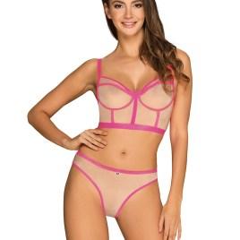 Nudelia Top & Panties pink  von Obsessive