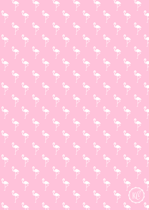 flamingo print pink