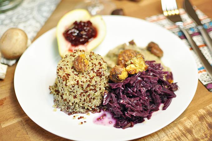 Quinoa mit Rotkraut
