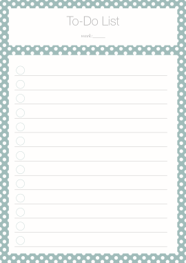 To Do List Polka Dot turquoise Freebie