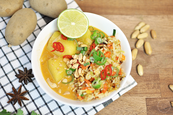 Massaman-Curry mit Fried Rice