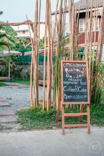 Vegan in Chiang Mai Pinkhouse Garden