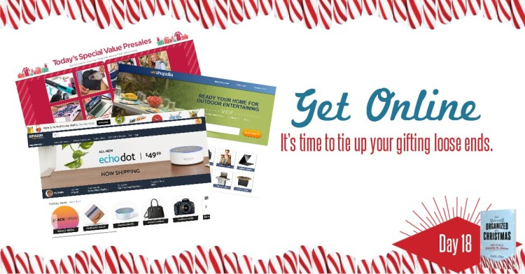 Get Yourself Organized for Christmas Project 18: Get Online Shopping