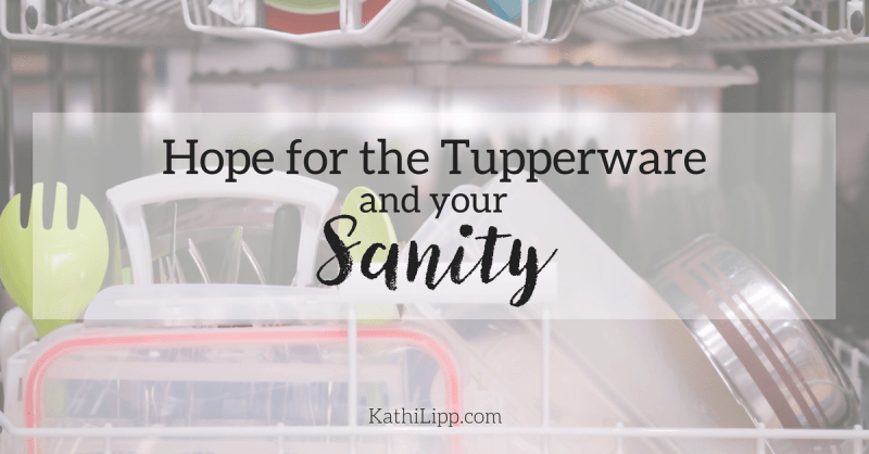 Hope for Tupperware Organization and Your Sanity