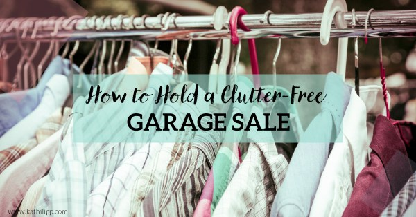 How to Hold a Clutter-Free Garage Sale