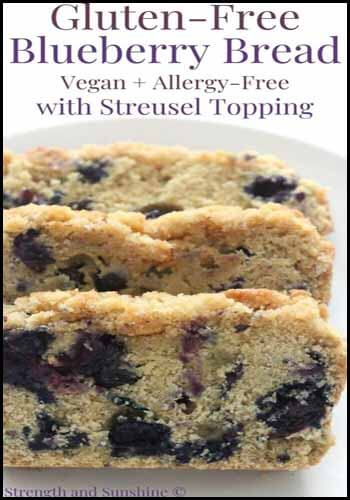GF Blueberry bread Blogger's Pit Stop #236