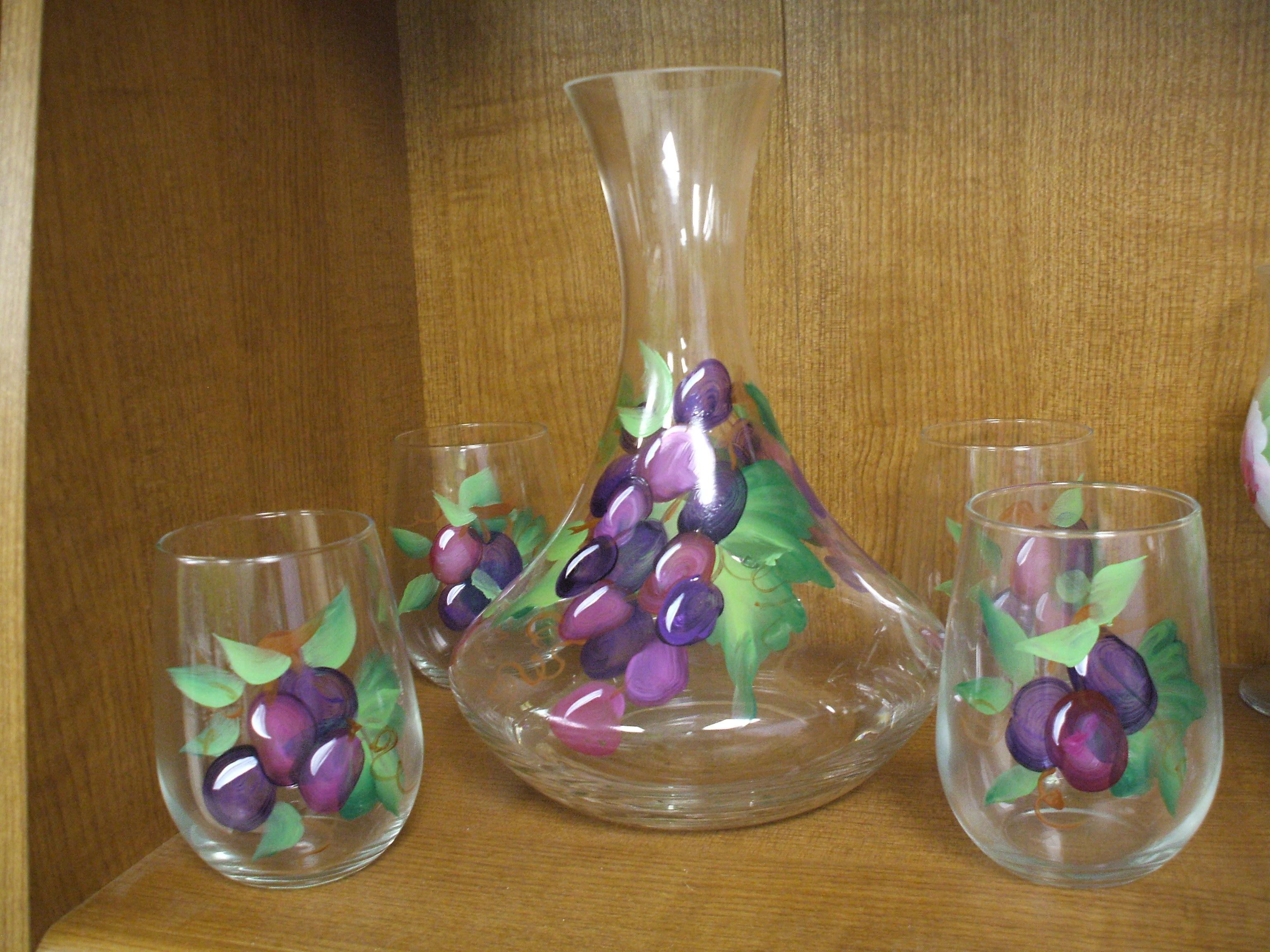 purple wine decanter