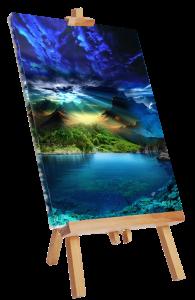 painted canvas (Medium)