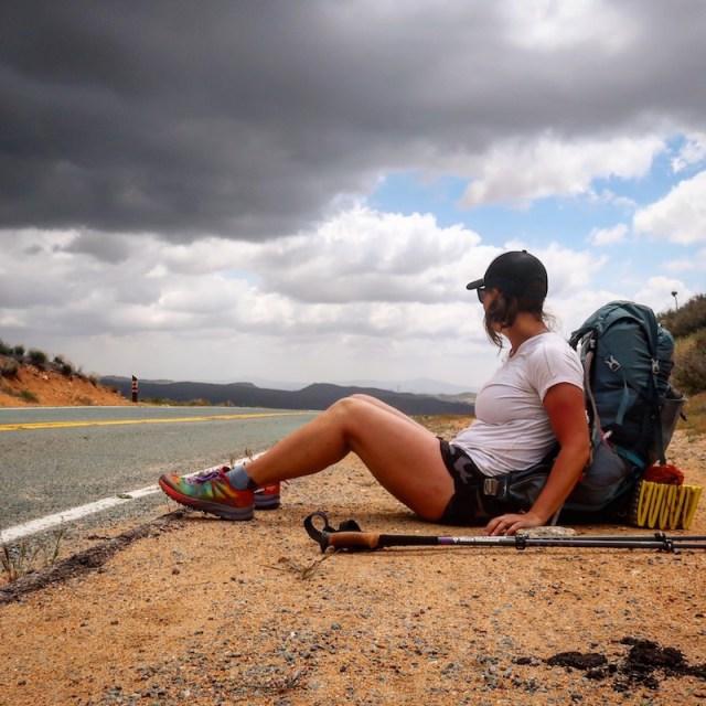 Kathleen on PCT Highway