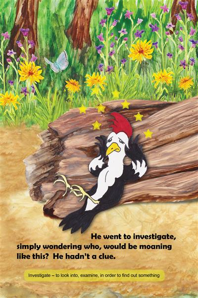 Elwood Woodpecker has a headache hamilton troll books kathleen j shields author
