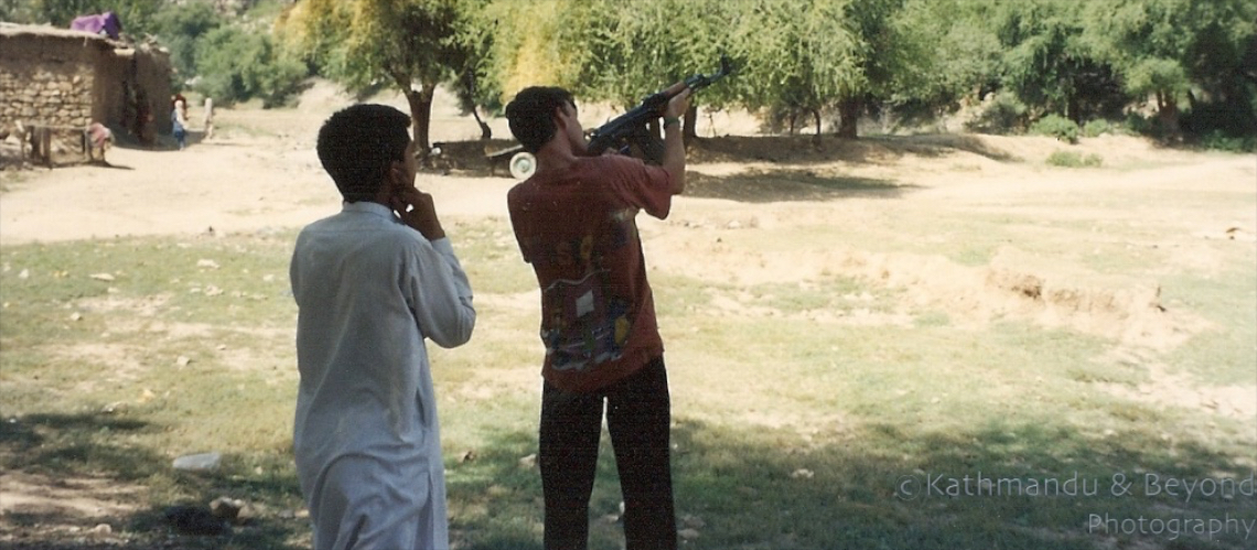 Friday Flashback | Shooting a Kalashnikov rifle in Pakistan's North-West Frontier