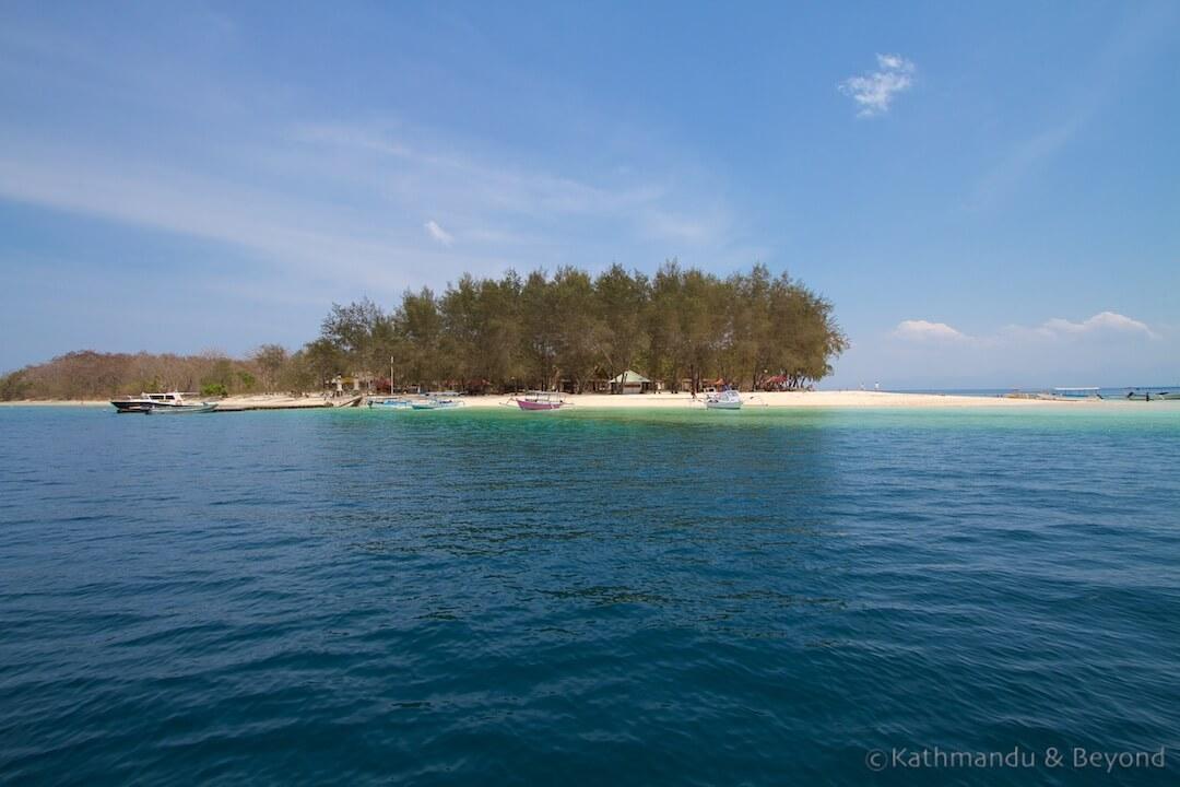 Approaching Gili Nanggu Lombok Indonesia