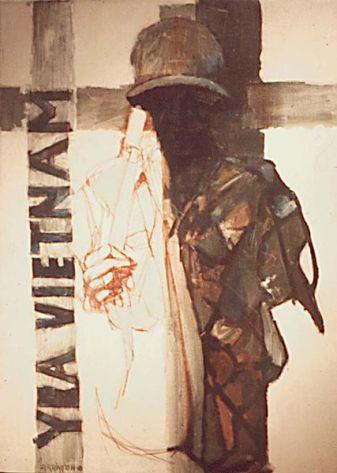Vietnam Combat Art by David Fairrington, 1968