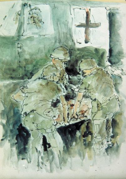 Vietnam Combat Art by James Pollock, 1967