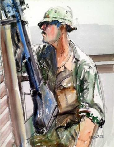 Vietnam Combat Art by Victory V. Reynolds, 1969