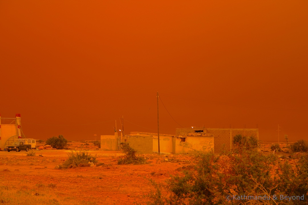 Friday Flashback | Sandstorm near Benghazi, Libya
