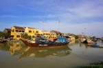 Thu Bon River Ancient Town Hoi An Vietnam