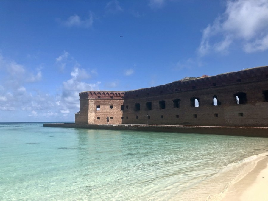 The pristine waters near Fort Jefferson at Dry Tortugas National Park