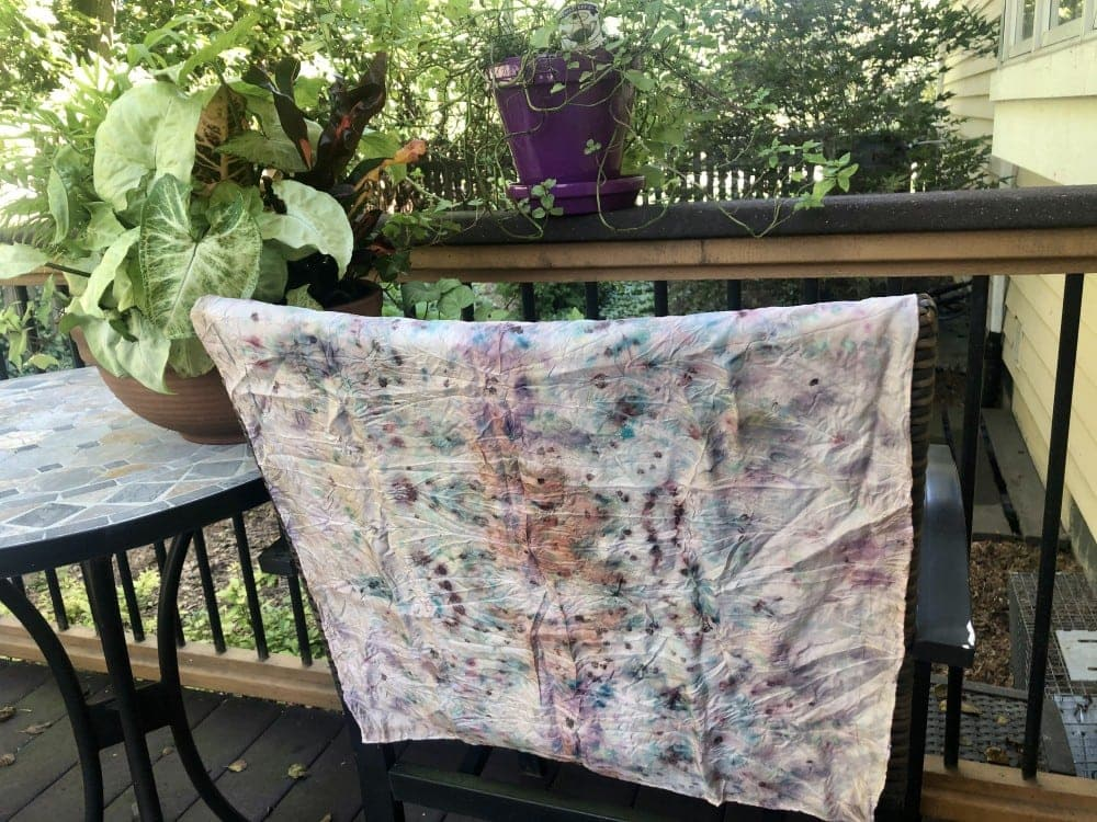 My botanically dyed silk scarf from Fever Dreams retreat.