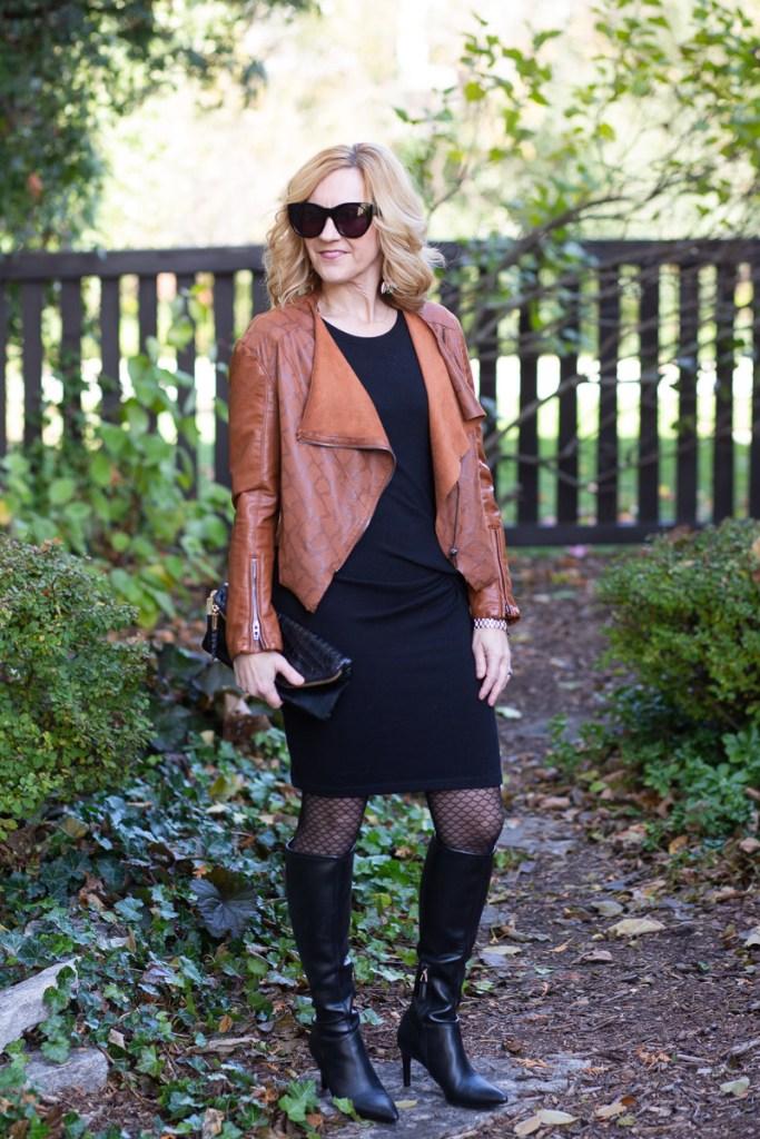 LBD and Leather Jacket by Kathrine Eldridge, Wardrobe Stylist