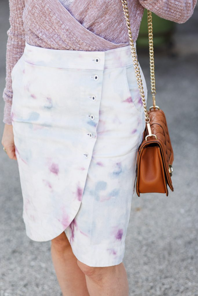 Kimmie Tie-Dyed Tulip Midi Skirt from Anthropologie