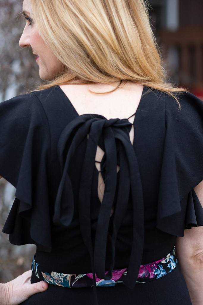 Back detail of my jumpsuit for Easter.