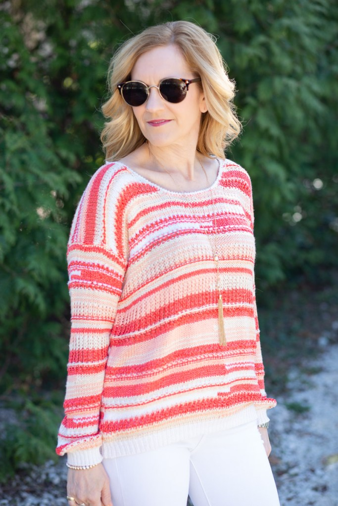 Sunset Striped Sweater by Heartloom