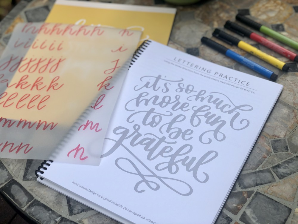 Lettering Practice from Creative Lettering Journal