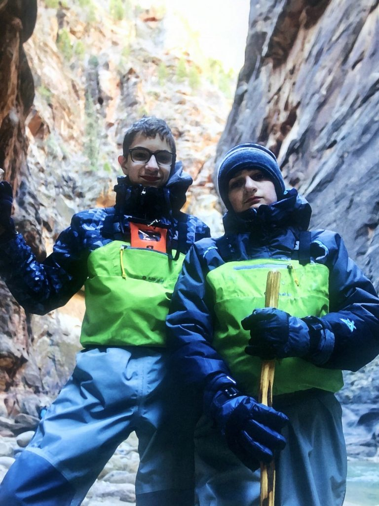 My sons Evan and Austin at Zion National Park