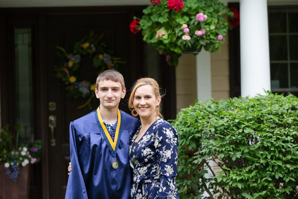 My son and I at his 8th grade graduation.