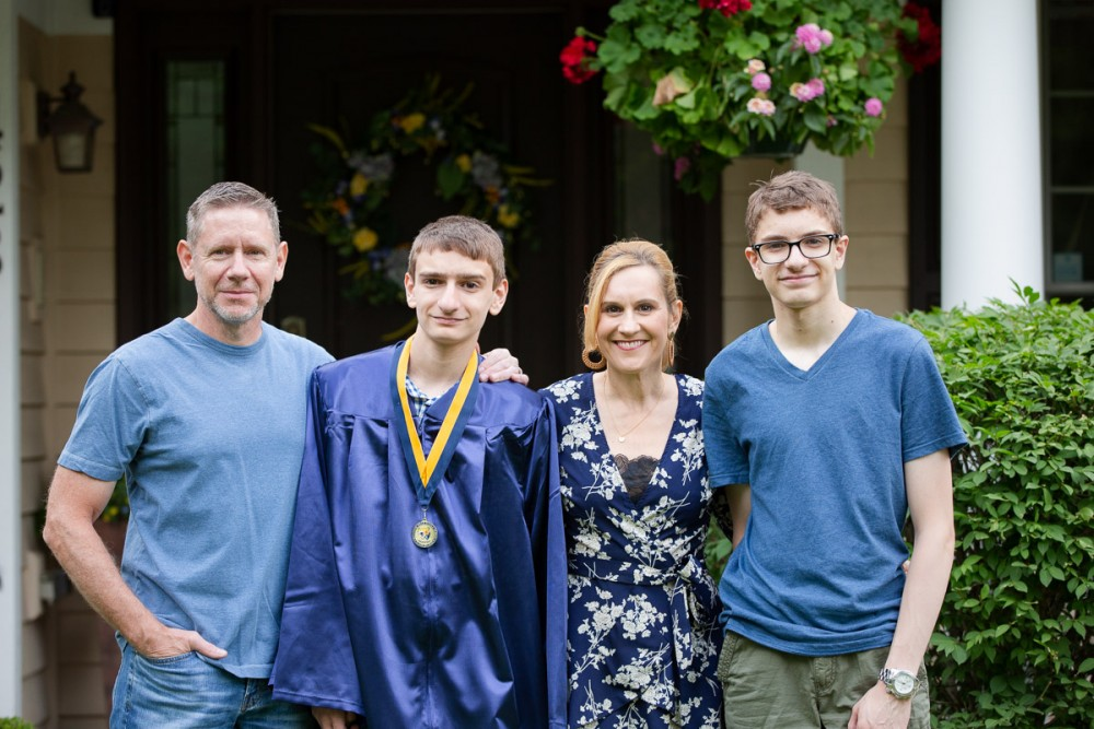 Our family celebrating my youngest sons' graduation from Westview Hills Middle School.