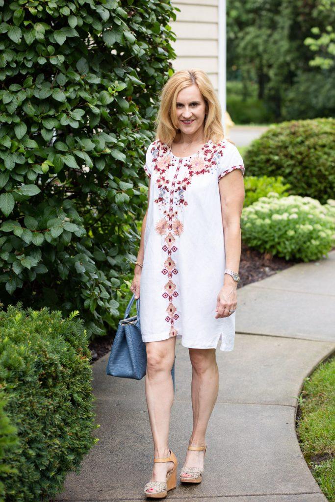 Embroidered Tunic Dress by Kathrine Eldridge, Wardrobe Stylist
