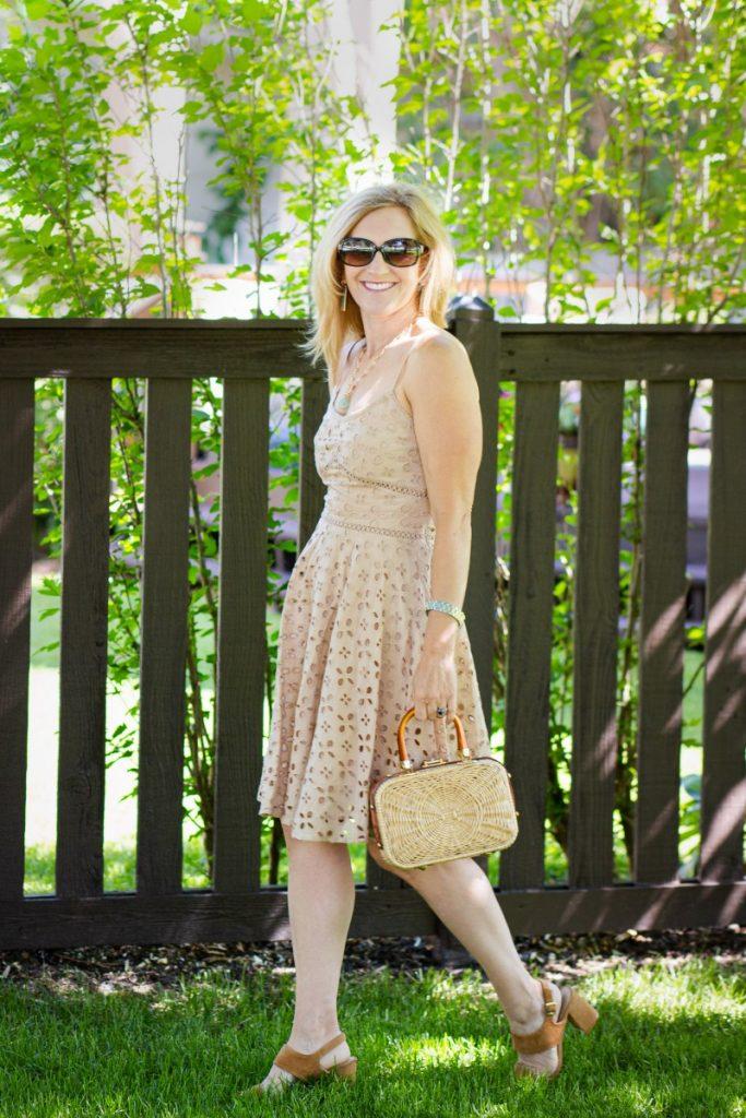 Eyelet Dress for Summer - Kathrine Eldridge, Wardrobe Stylist