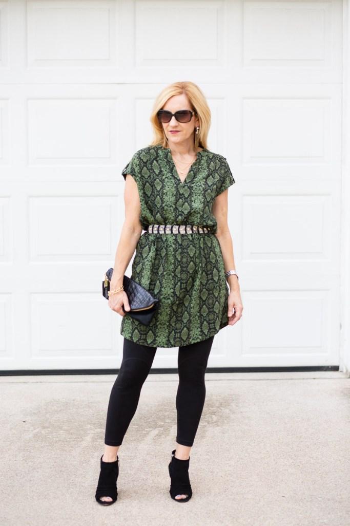 Sensational Snakeskin Dress with Leggings by Kathrine Eldridge, Wardrobe Stylist