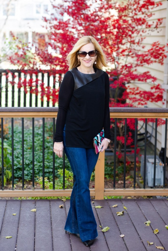 Taking a summer top into fall with a long sleeved tee.