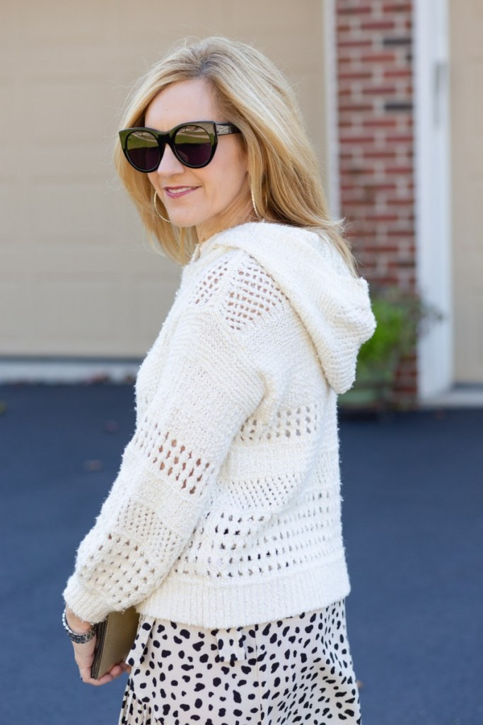Pointelle Hooded Sweater by Anthropologie