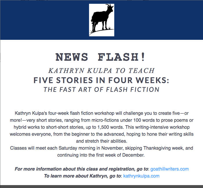 Flash Fiction Workshop