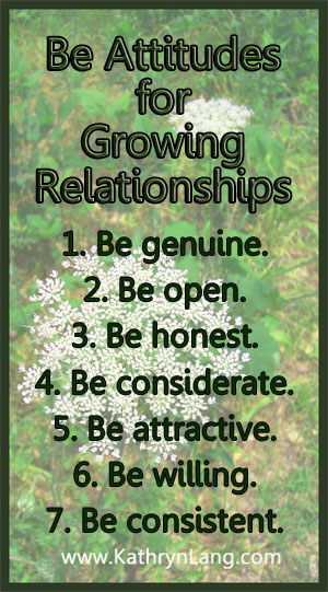 be Attitudes for Relationships