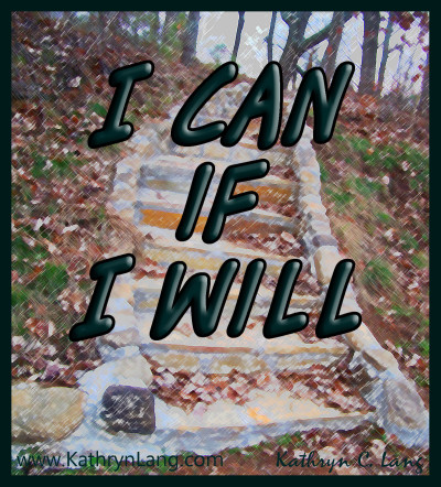 Change - I can if I will