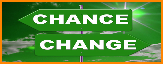 Change happens by choice not chance.