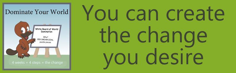 Challenge to Change- White Board of World Domination