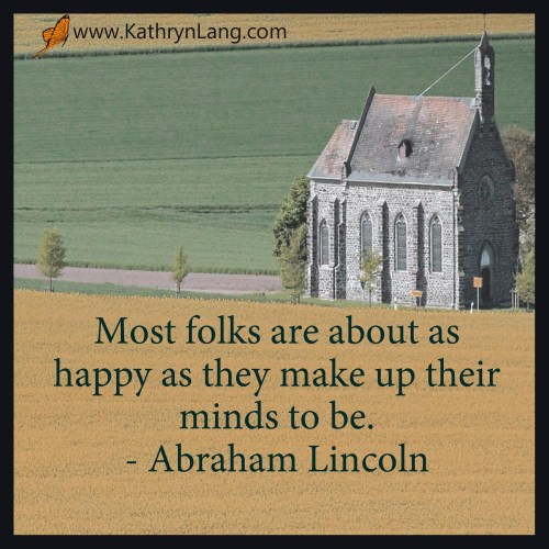 quote - Abraham Lincoln - about as happy