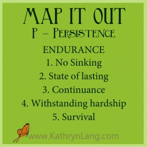 MAP IT OUT - Persistence - Endurance