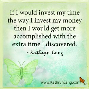 Quote of the Day - invest in time