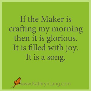 Master Crafted Morning with Kathryn Lang