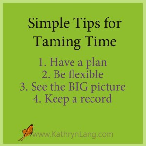 Tips for Taming Time