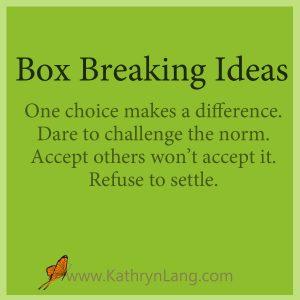 Box building or Barrier Breaking