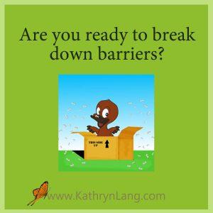 break down barriers
