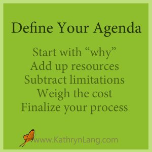 Define agenda for a fruitful life