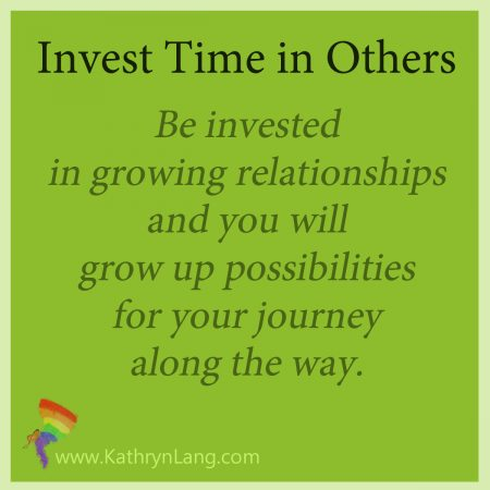 invest time in others